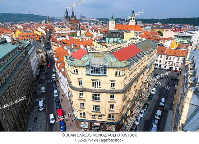 View from Powder Tower, Prague, Czech Republic, Europe