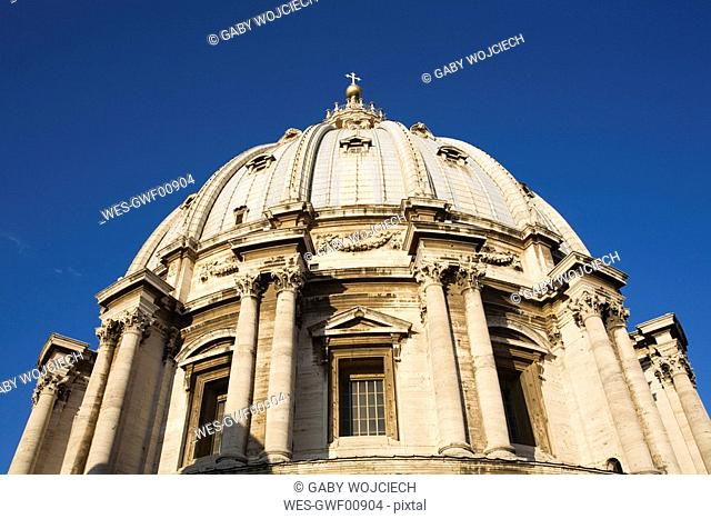 Italy, Rome, St. Peter's Basilica, Cupola, close up