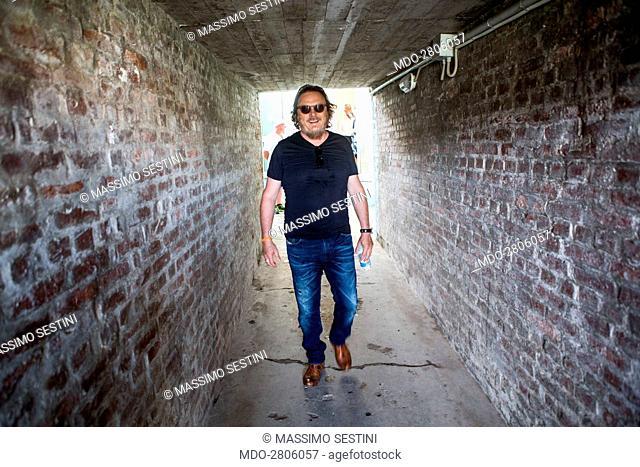 The singer-songwriter Zucchero (Adelmo Fornaciari) during the Partita del Cuore between the Nazionale Italiana Cantanti and the Versilia Team Carlo Conti &...