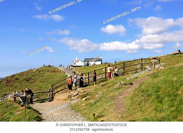 The pathway to the first & last house in W. England at Lands End Cornwall