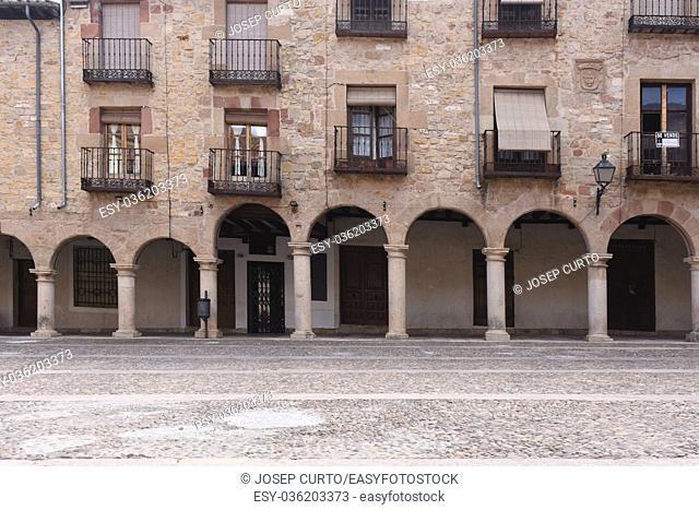 Arche in the Main square in Siguenza, Guadalajara province, Castilla-La Mancha, Spain