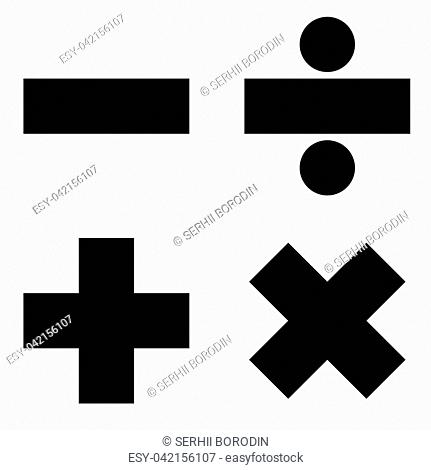 Math signs icon black color vector illustration flat style simple image