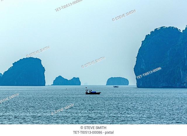 Boat in Halong Bay, Vietnam