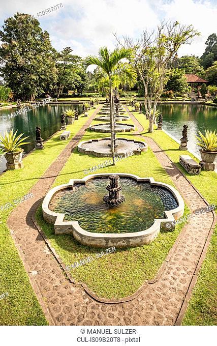 Formal garden and ponds, Amlapura, Bali, Indonesia