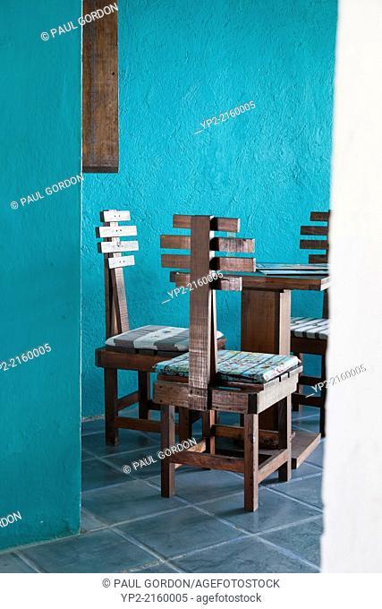 Interior of Cafe Bohemio in the Zona Romantica - Puerto Vallarta, Jalisco, Mexico