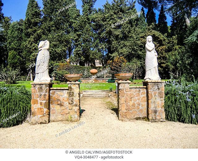 The garden of Villa Massimo, the German Academy Rome, Accademia Tedesca Roma, Rome, Italy
