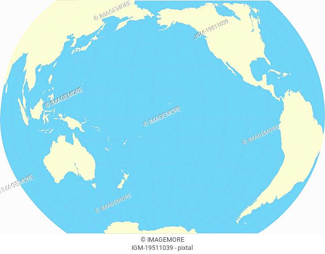 Pacific-centered world map