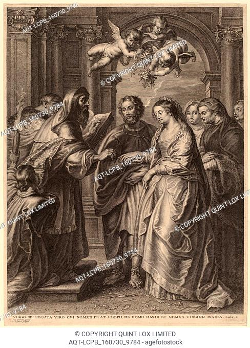 Schelte Adams Bolswert after Sir Peter Paul Rubens (Flemish, 1586 - 1659), The Marriage of the Virgin, engraving