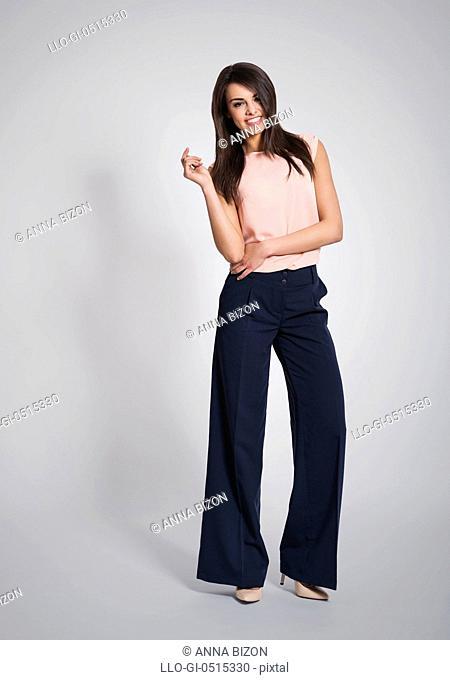 Portrait of fashionable and confident business woman. Debica, Poland