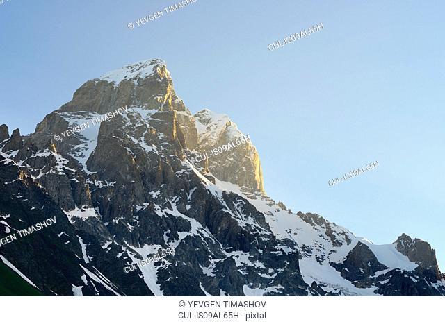 View of Ushba mountain peak, Svaneti, Georgia