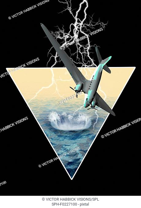 Bermuda triangle, illustration