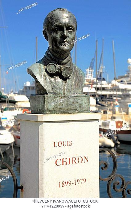 Statue to Louis Chiron, Grand Prix driver  Monaco harbor