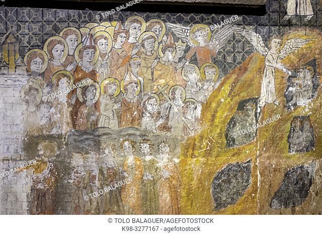 imagen del Juicio Final, Capilla de San Martín, Catedral de la Asunción de la Virgen, catedral vieja, Salamanca, comunidad autónoma de Castilla y León, Spain