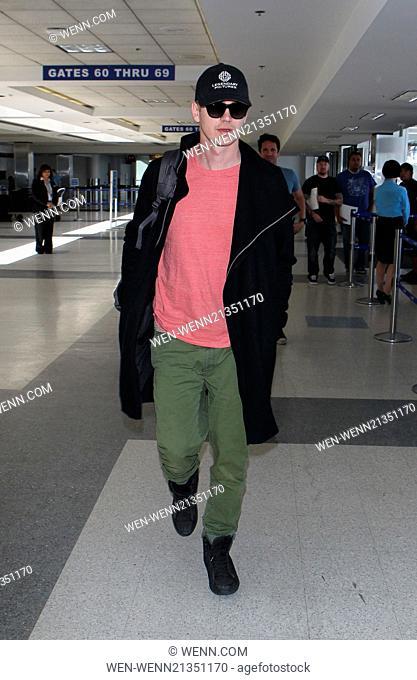 Hayden Christensen at Los Angeles International (LAX) Airport Featuring: Hayden Christensen Where: Los Angeles, California