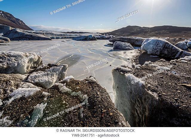 Glacial landscape, Svinafellsjokull, Iceland