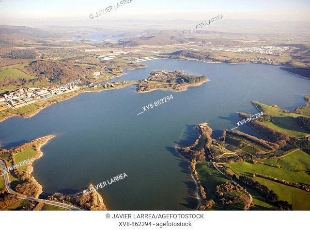 Urrunaga reservoir, Legutiano, Alava, Basque Country, Spain
