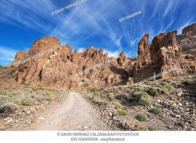 Teide national park, volcanic landscape, Tenerife, Canary island, Spain