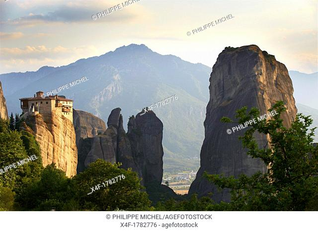 Greece, Thessaly, Meteora, Unesco World Hertitage, Roussanou Monastery