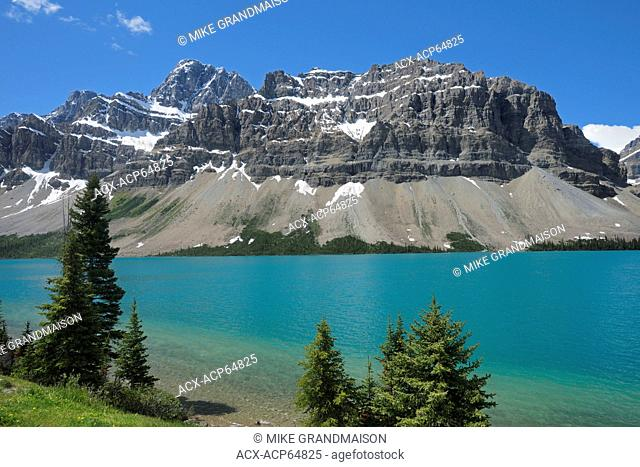 Bow Lake and the Canadian Rocky Mountains, Banff National Park, Alberta, Canada