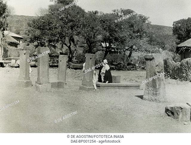 Stele in Axum, Ethiopia, ca 1937