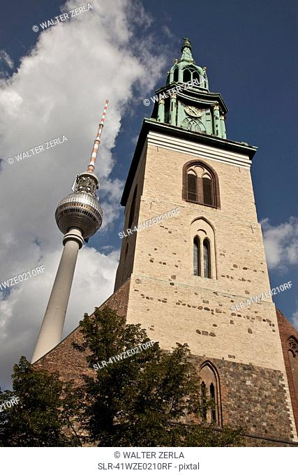 Low angle view of towers