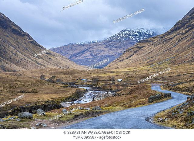 Glen Etive, Argyll, Highlands, Scotland, United Kingdom, Europe