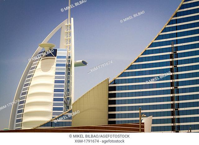 Burj al Arab and Jumeirah Hotels  Jumeirah area  Dubai city  Dubai  United Arab Emirates