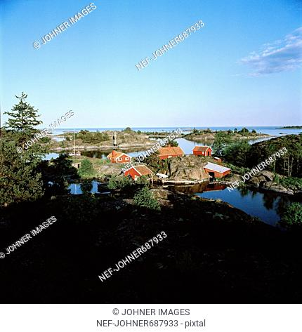 Houses in the archipelago, Sweden