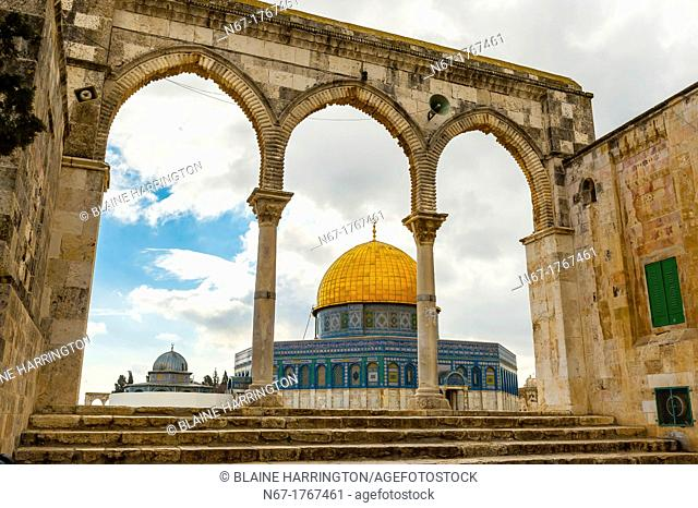 The Dome on the Mount on the Temple Mount Mount Mariah, Old City, Jerusalem, Israel