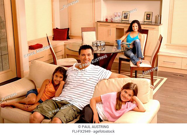 Family Relaxing at Home
