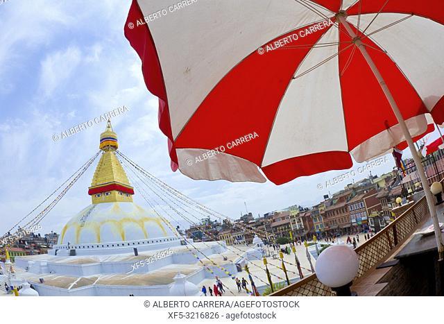Boudhanath Stupa, UNESCO World Heritage Siite, Kathmandu, Nepal, Asia
