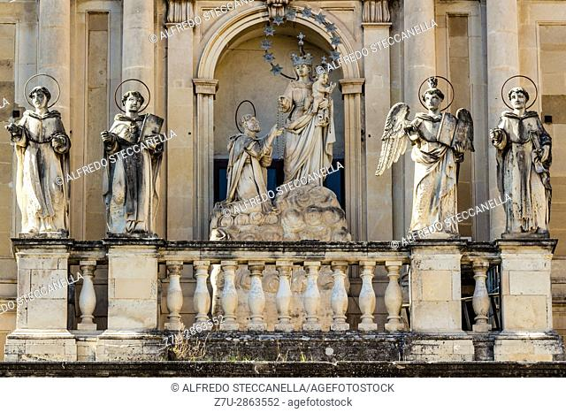 Acireale - Italy. Detail of a statue in a Sicilian baroque church