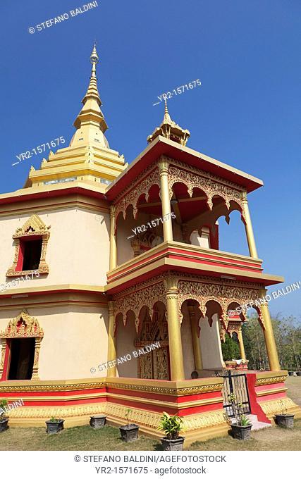 Exterior of Phra That Khong Santi Chedi, Wat Pa Phon Phao, Luang Prabang, Laos