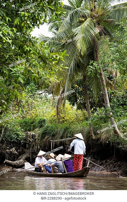 Traditional transport by boat, Mekong Delta, South Vietnam, Vietnam, Southeast Asia, Asia