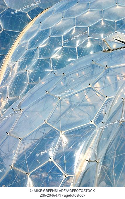 Biome detail, The Eden Project, Boldeva, Cornwall, UK