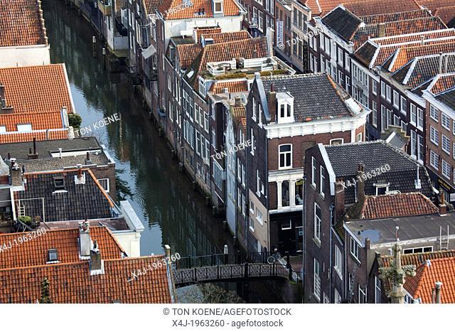 canal houses in Dordrecht, netherlands