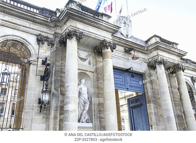 The city hall building of Bordeaux on September 7, 2015 located at Bordeaux, France