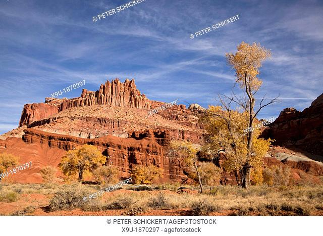 Rock formations at Capitol Reef National Park in Utah, United States of America, USA