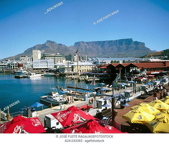 The water front and Table Mountain. Cape Town. South Africa