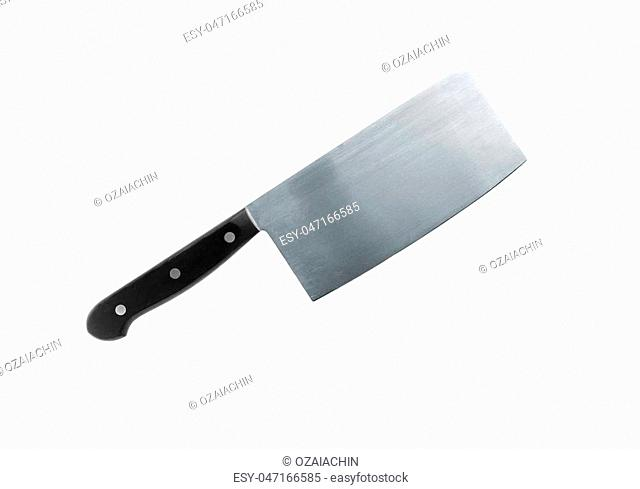 Kitchen knife isolated on a white background