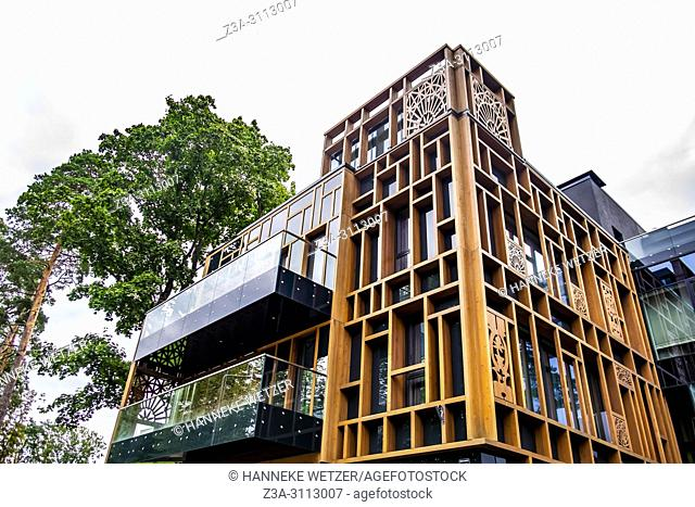 Brand new modern architecture in Dzintari, Jurmala, Latvia, Europe