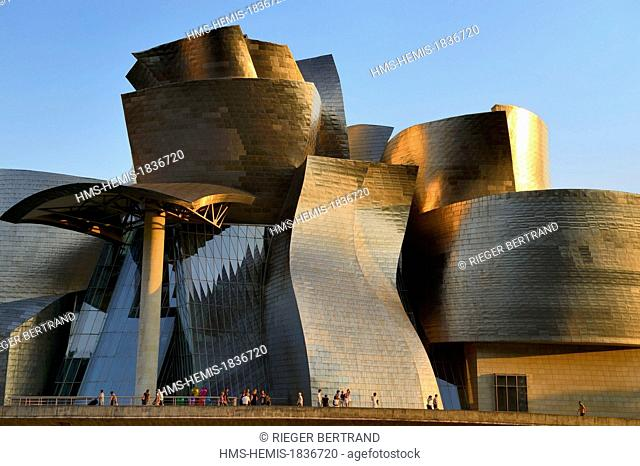 Spain, Basque Country Region, Vizcaya Province, Bilbao, the Guggenheim Museum designed by Frank Gehry