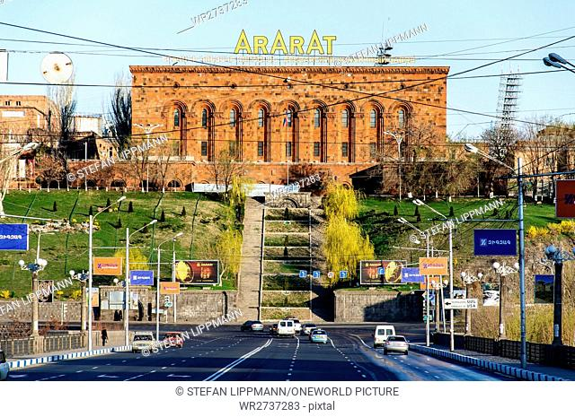 Armenia, Yerevan, Kentron, Cognac manufactory Ararat, the renowned manufactory (since 1877) belongs now to Pernod-Ricard