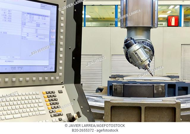 CNC milling machine. Machine Tools Company. Gipuzkoa. Basque Country. Spain. Europe