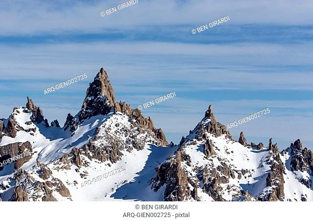 Massive Granite Spires Can Be Seen Looking Off The Backside Of The Resort Cerro Catedral In Argentina
