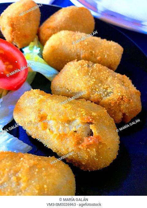 Croquettes serving. Spain