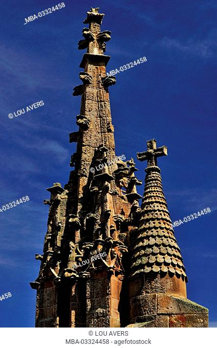 Spain, Kastilien-Leon, detail of the Romanesque cathedral Catedral Vieja in Salamanca