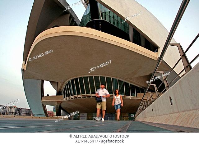 Palau de les Arts Reina Sofia, City of Arts and Sciences, arq Santiago Calatrava, Valencia, Spain