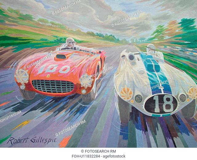 Watkins Glen, NY, New York, Finger Lakes Region, Race Car Wall Mural by Robert Gillespie
