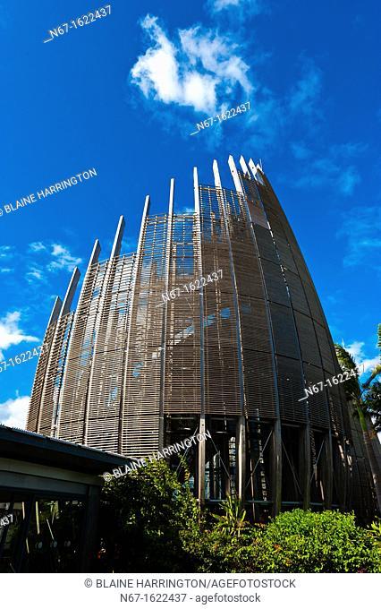 Tijabaou Cultural Center by architect Renzo Piano, Noumea, Grand Terre, New Caledonia